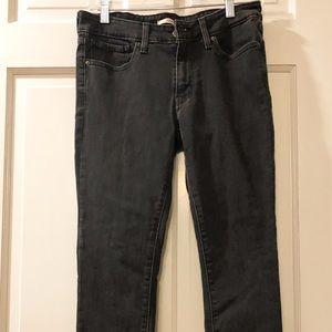 Levi's 711 Skinny Black Jeans - Size 30